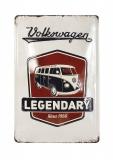 Blechschild Vintage Logo grau