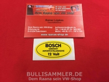 Aufkleber BOSCH gelb 12V Zündspule Germany (38-017)