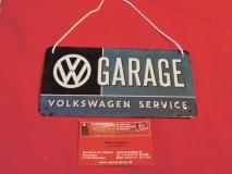VW Garage - Volkswagen Service Hängeschild / Blechschild