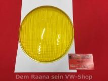 Scheinwerferglas gelb für VW Käfer -60, Porsche 356 A, symmetrisch HELLA (-071)