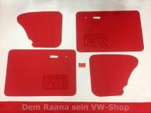 Türverkleidungen rot für VW Käfer ab 66- Türtafeln Seitenverkleidung (-514)
