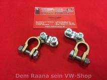 VW Käfer, Bus T1 T2, Typ1 + / - Batteriepolklemmen, Paar (0635)