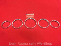 Instrumentenringe Porsche 911 964 993, 5 Ringe aus Alu (-518)