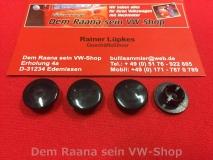4 Türscharnierstopfen schwarz für VW Käfer 67-, Cabrio, Karmann Ghia (0715)