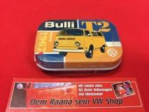 Pillendose / Blechdose m. Pfefferminzdragees VW Bulli T2
