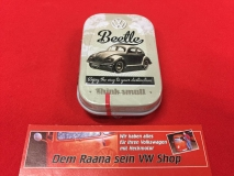 Pillendose / Blechdose m. Pfefferminzdragees VW Beetle Volkswagen Käfer (62-068)