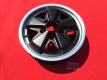 Fuchs-Style Felge 4.5x15 5x130 ET42 MIT TÜV - schwarz/poliert (-019)