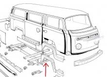 VW Bus T2 73- Reparaturblech Querträger vorne AUTOCRAFT (0891-621 A)