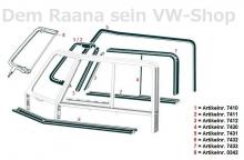 SET Fensterdichtungen VW Bus T1 55-67 für Fahrertür UND Beifahrertür