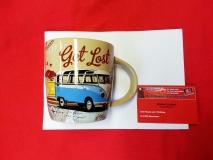 Kaffeebecher Becher VW Bus T1 Tasse - Get lost (-074)