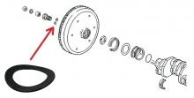 Unterlegscheibe Hohlschraube Schwungrad für VW Käfer, Bus T1, T2, Sicherungsscheibe (1533-1)
