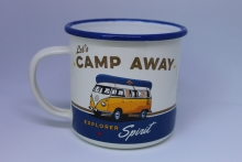 Emaille Becher Tasse VW Bus Bulli T1 Kaffeebecher