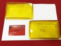 Glas für Fernlicht gelb Porsche 928 (78-86) Paar NOS BOSCH (31-098)