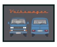 Fußmatte VW Bus T3 blau (-075)