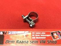 Schelle für 5,5mm und 6,0mm Benzinschlauch Kraftstoffschlauch Benzinpumpe Schlauchschelle 10-12mm für VW Käfer Bus T1 T2 T3 verzinkt (59-004)