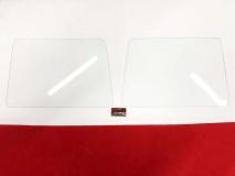 Glasscheiben Frontsafari Paar, VW Bus T1 Safari Prüfzeichen Frontscheibe (-003)