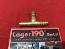 T-Stück Metall 8mm Benzinschlauch VW Käfer, Bus Kraftstoffschlauch (0971-205)