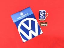 Tasse VW Parking only + Geschirrtuch VW Parking only