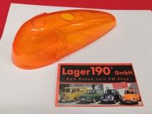 VW Käfer 08/57-10/63 Blinkerglas orange Glas HELLA Blinker PRÜFZEICHEN (89-019)