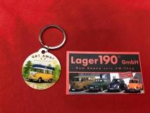 Schlüsselanhänger Get away T1 Bus gelb (62-100)