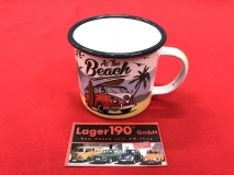 Emaille Becher Tasse VW Bus T1 Life at the beach (62-104)
