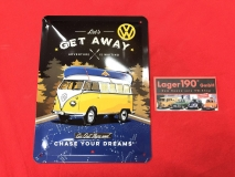 Let´s get away VW Bus T1 Blechschild 15x20cm (62-102)