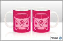 Tasse / Becher VW Bus Bulli T1 pink Glitzer