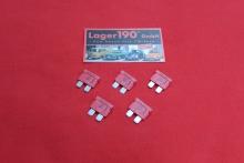 Flachsicherung 10A rot, 5 Sicherungen VW Käfer, Bus, Golf (0662-110)