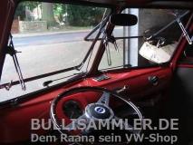 VW Bus T1 1955-1967 Frontsafari Safarifenster schwarz grundiert (11-002)